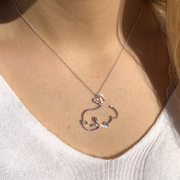 Rabbit Line Necklace