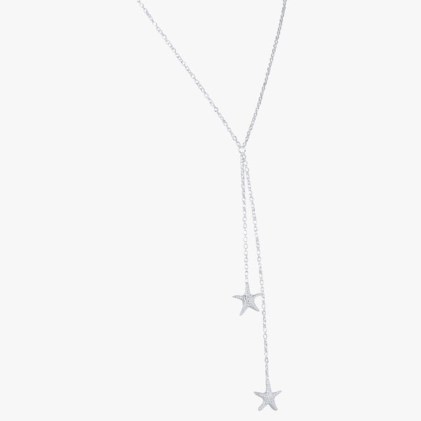 Falling Starfish Necklace