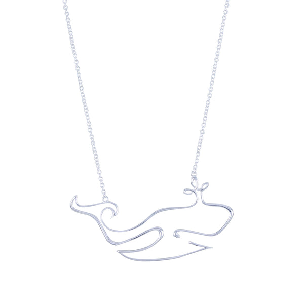 Whale Line Necklace