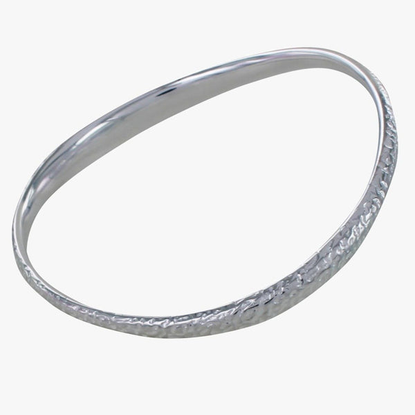 Silver Driftwood Bangle