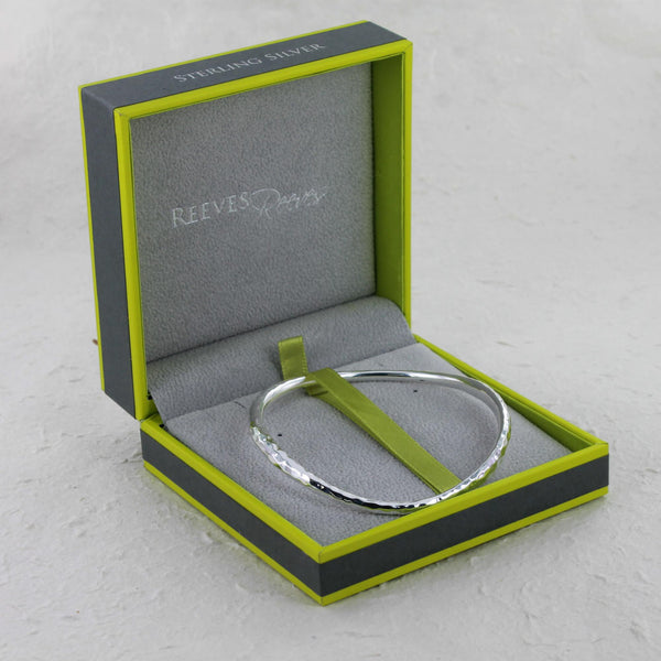 Sterling Silver Ripple Bangle