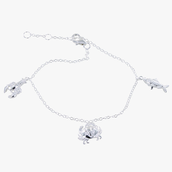 Little Nippers Sterling Silver Charm Bracelet