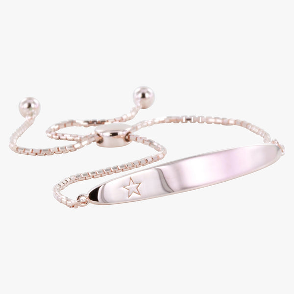 Children's Star Engraved Slider Bracelet