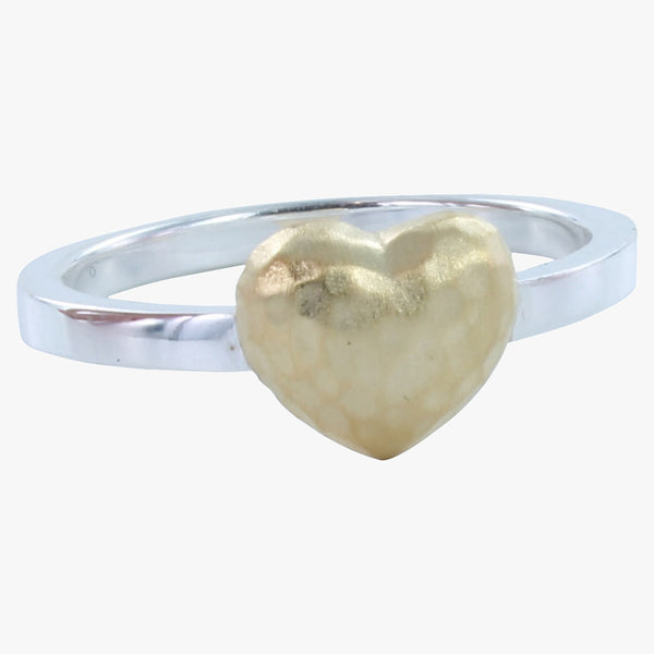 Sterling Silver Cushion Heart Ring