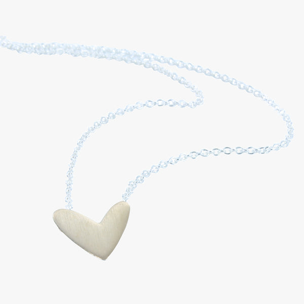 Sterling silver heart with 18ct gold vermeil finish on a silver chain with