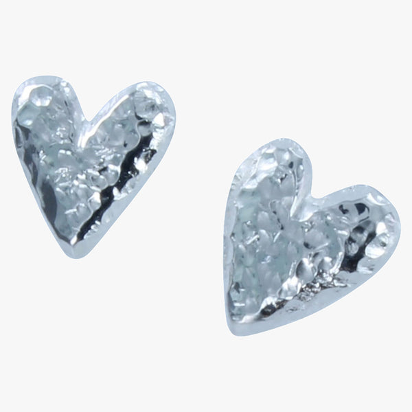 Chocolate Heart Stud Earrings