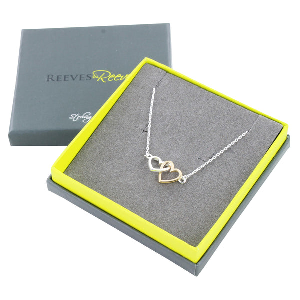 Twin Hearts Necklace
