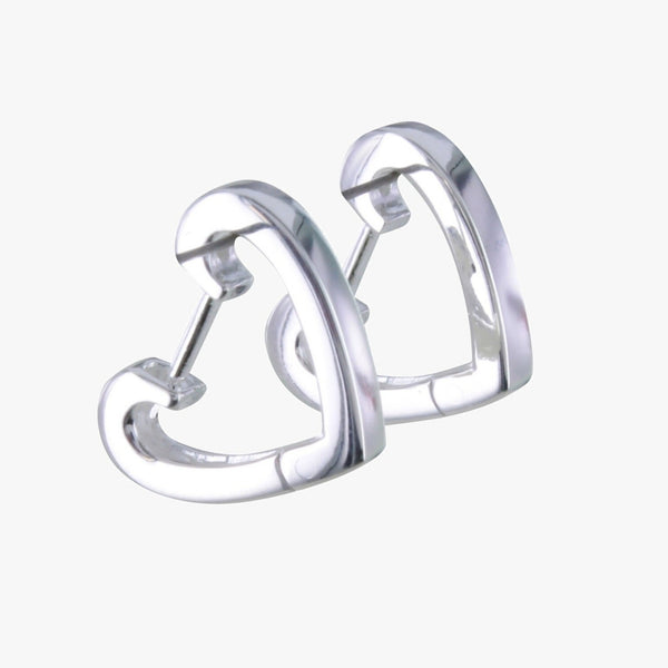 Sterling Silver Split Heart Earrings