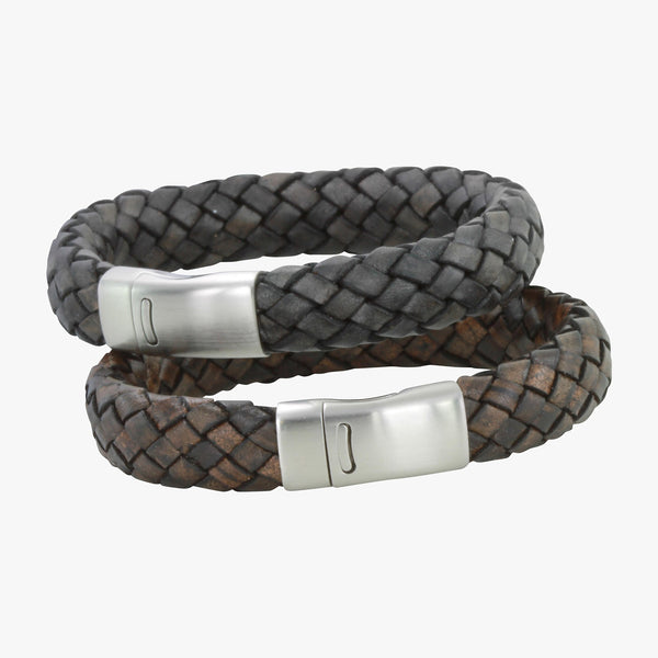 Chunky Clasp Leather Bracelet
