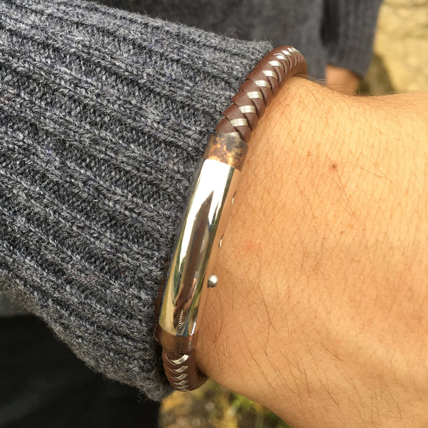 Antique Clasp, Steel Bracelet