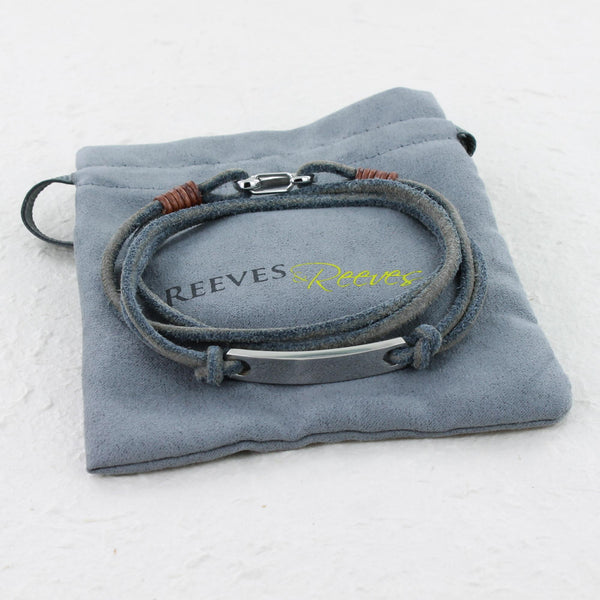ID Suede Leather Bracelet