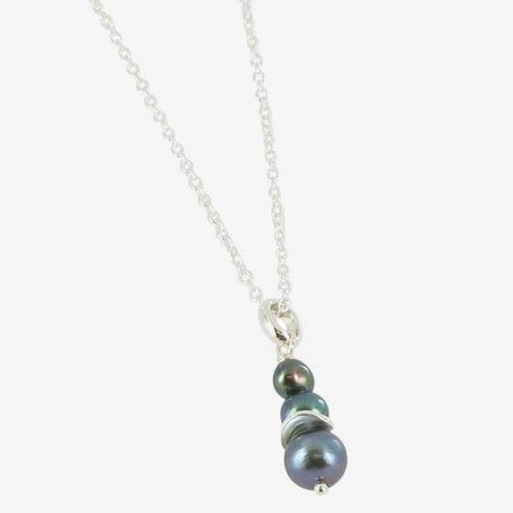 3 Pearl Drop Necklace