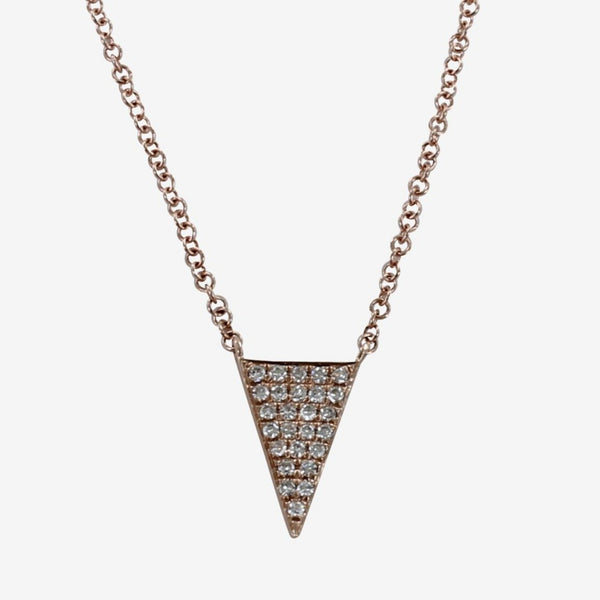Diamond Solid Triangle Necklace