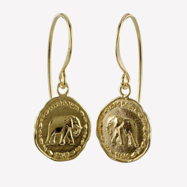 Elephant Coin Earring