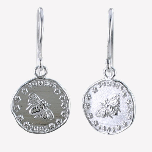 Bee Coin Earrings