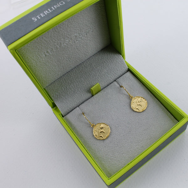 Owl Coin Earrings