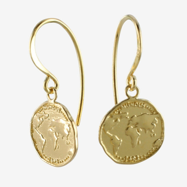 World Coin Earring