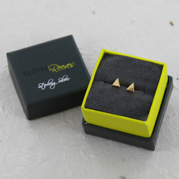 High Shine Triangle Studs