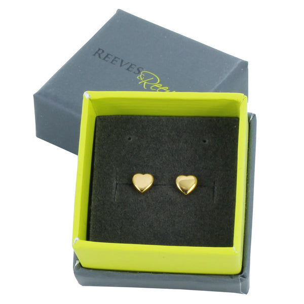 High Shine Heart Studs