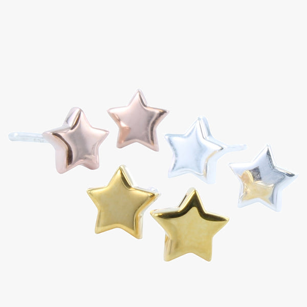 High Shine Star Studs