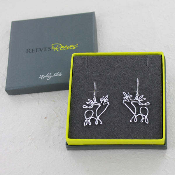 Stag Line Earrings