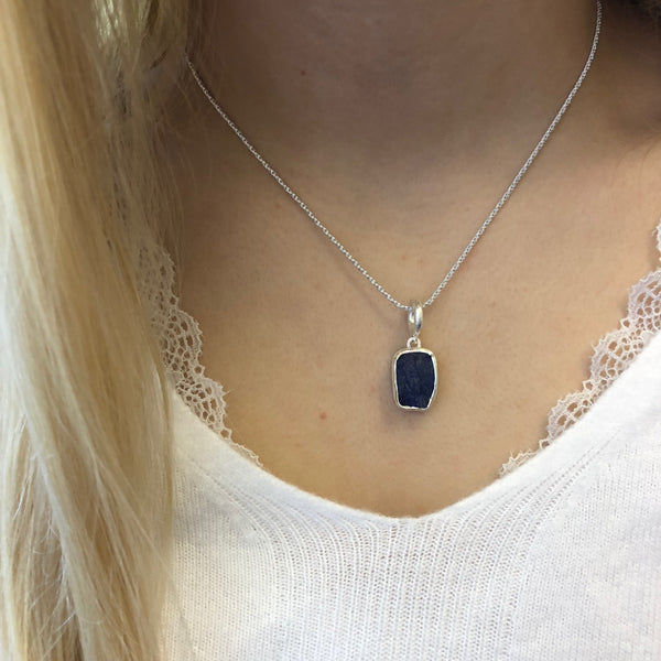 Rough Stone Tanzanite Necklace