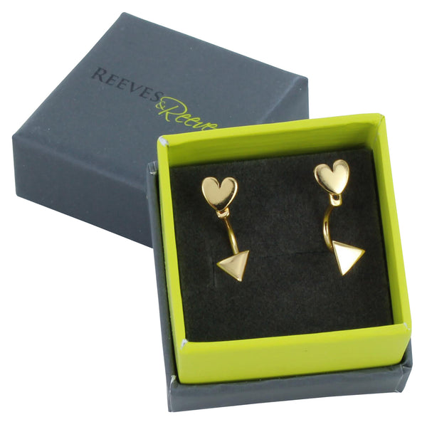 Cupid Heart Stud Earring