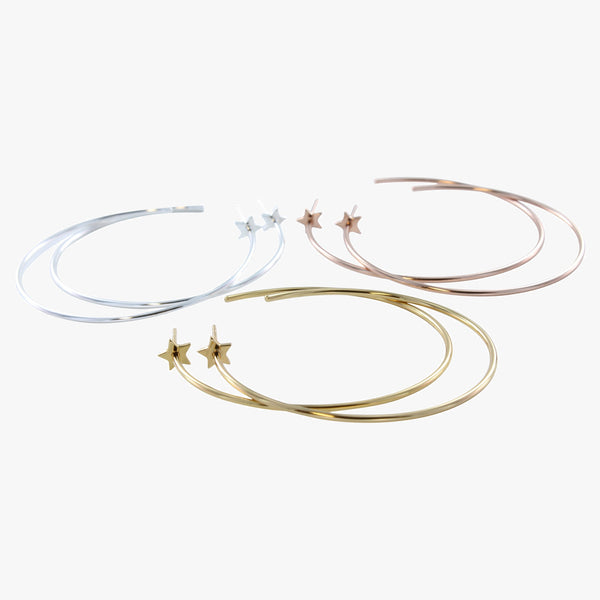 Large Hoop and Star Earring
