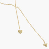 Sterling silver with 18ct gold vermeil 'cupid' necklace