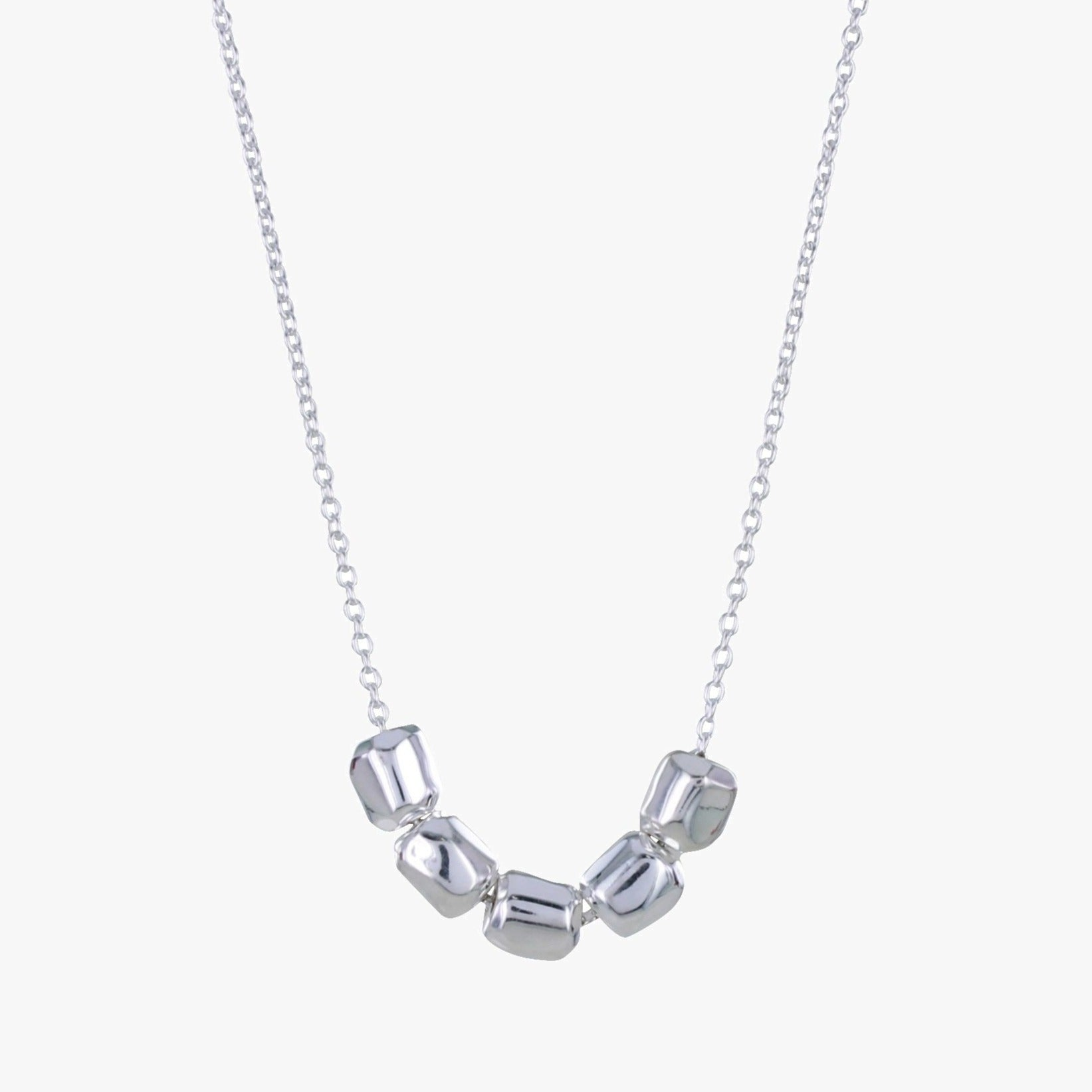 Sterling Silver Nuggets Necklace
