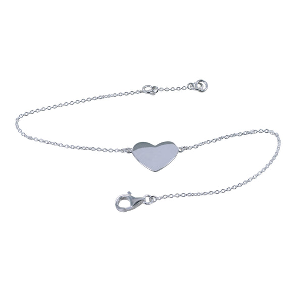 Sterling Silver Floating Heart Bracelet
