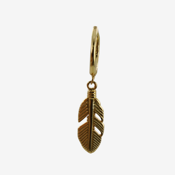 Men's Feather Sleeper Earring