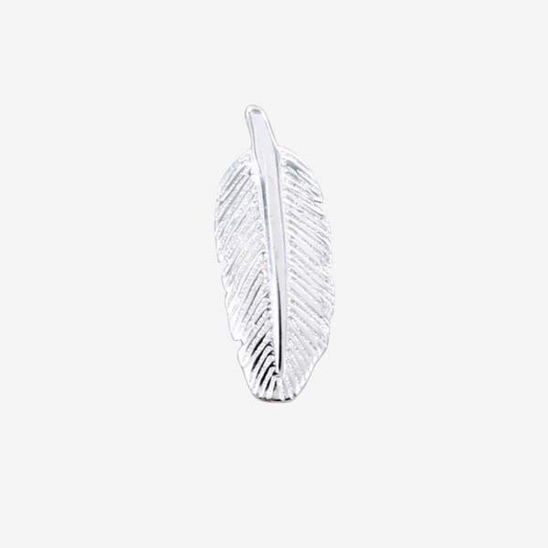 Men's Sterling Silver Feather Stud
