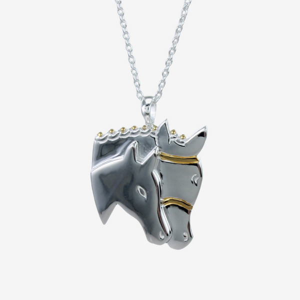 Mare and Foal Head Necklace