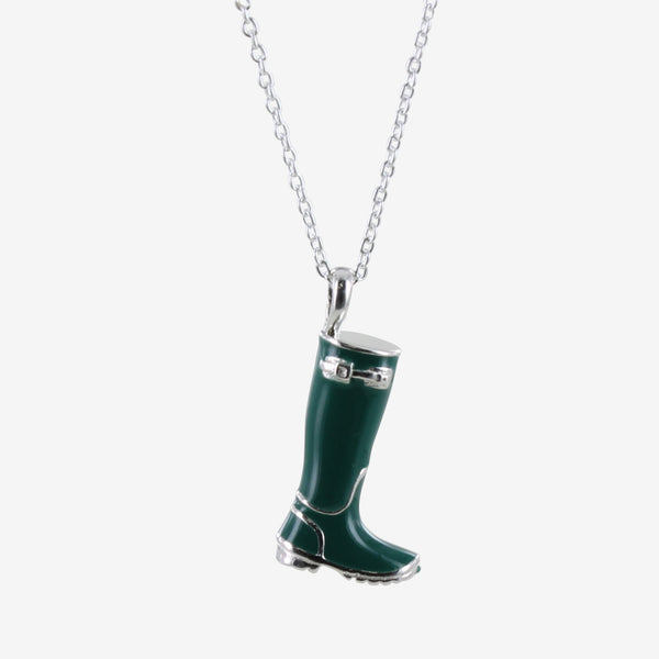Sterling Silver & Enamel Welly Necklace