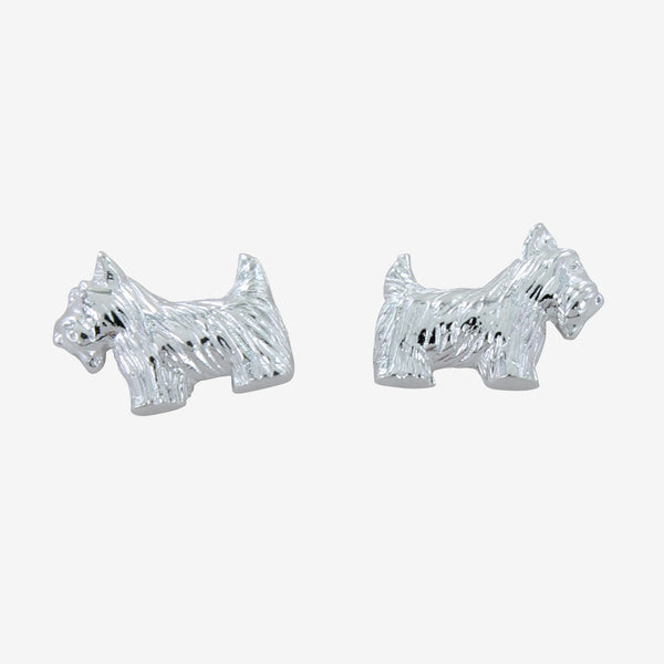 Sterling silver Scottie Dog Stud earrings