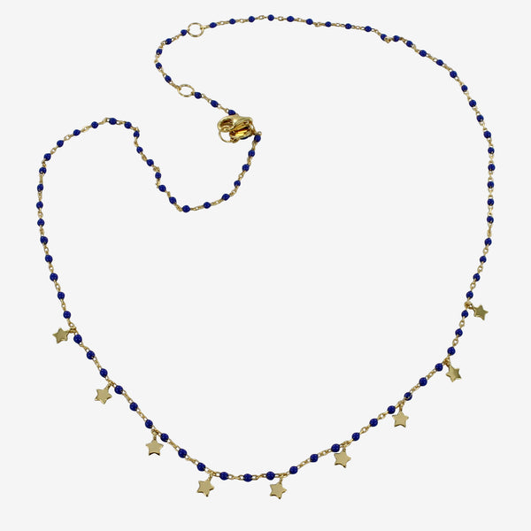 Blue Starry Necklace