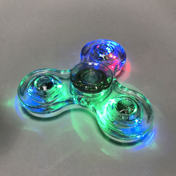 Colorful LED light Fidget Hand Spinner