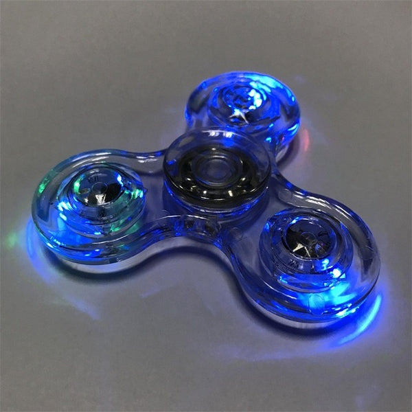 Colorful LED light Fidget Hand Spinner - Blue