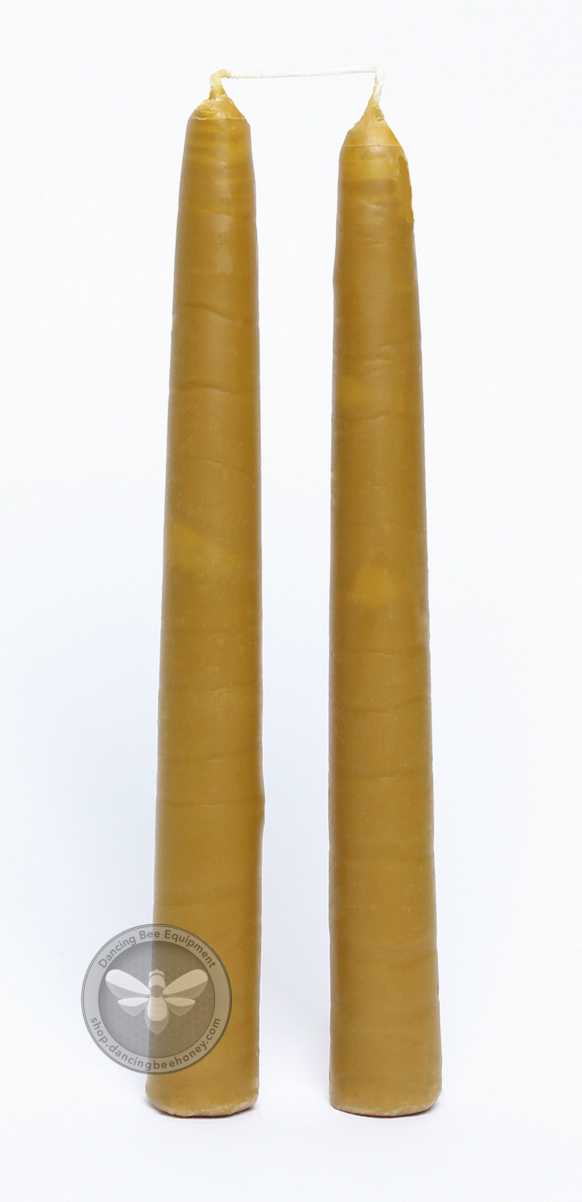 10 Inch Hand Dipped Beeswax Taper Candles