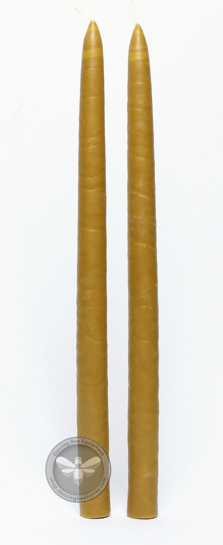 17 Inch Hand Dipped Beeswax Taper Candles