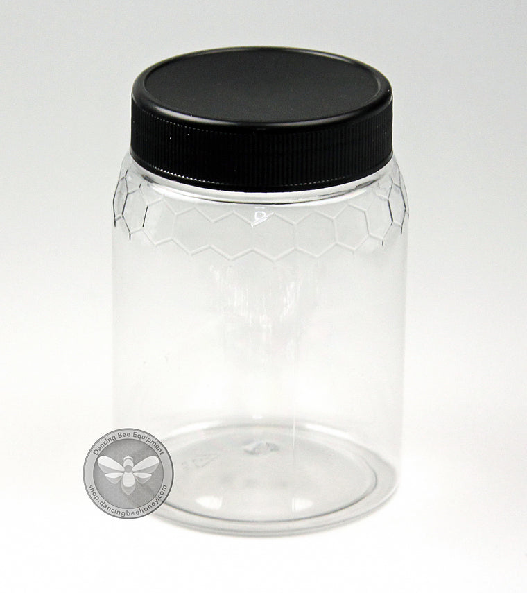 500 g Plastic Honeycomb Embossed Jar