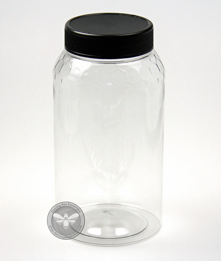 1 kg Plastic Honeycomb Embossed Jar