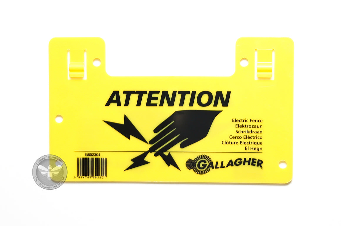 Gallagher Warning Sign for Electric Fence
