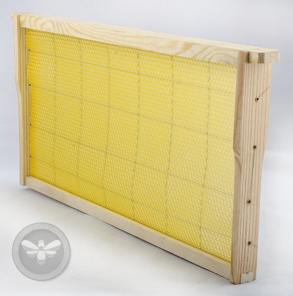 Assembled Beeswax Deep Frame <br> Product Code F-1