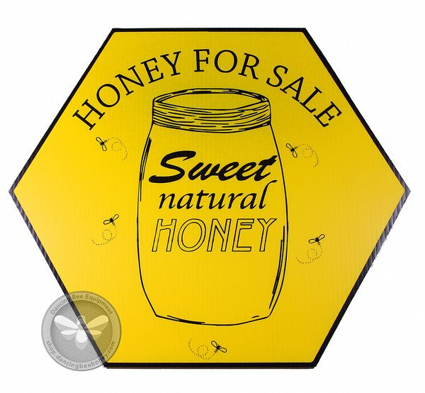 Sweet Natural Honey For Sale Sign