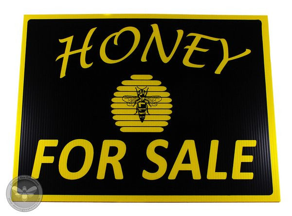 Honey For Sale Sign - Bold