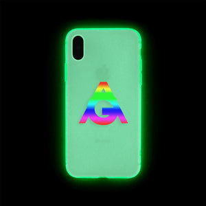 GLOW IN THE DARK ACTORGANG RAINBOW IPHONE CASE