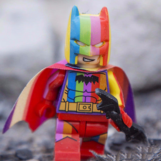 FREE Rainbow Lego Batman Figure