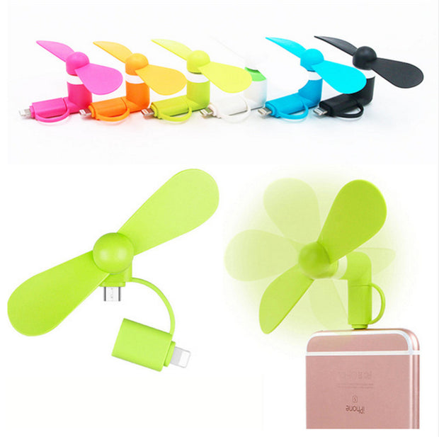 Mobile Fan for iPhone & Micro USB